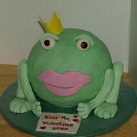 Waiting For My Prince To Come.... Wanted to make a frog cake for awhile and I had so much fun with this one. Made it for Valentines day. Sugarshack BC with Michelle Foster&#...