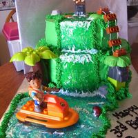 Go Diego Go! Complete with waterfall with piping gel.
