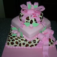 Cheetah Baby Shower Thanks to cakesbyallison for the inspiration and pointers and help... not nearly as nice as hers, but I was pretty proud of it. My first...