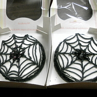 Spider Cake I made two of these cakes for the best Halloween story writers at my Halloween storytelling. They are white sour cream cakes with white...