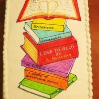 Love To Read This cake was made for a school party celebrating the children reaching their reading goals. It was a simple sheet cake with buttercream...