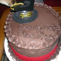 Cornell 06 Made this cake for my boyfriend's graduation. Chocolate cake, Oreo filling, Choc BC.