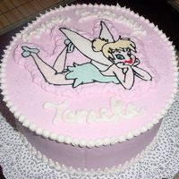 Tinkerbell For Tameka FBCT Tinkerbell for a darling little girl who turned 4. White Chocolate Strawberry cake with pink BC icing inside and out. Wish I'd...