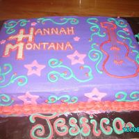 Another Hannah Montana Cake yellow cake with buttercream icing fondant accents.
