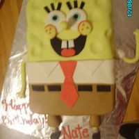 Spongebob Cake this cake was the first cake i made with MMF.....was amazing to work with and tasted fabulous! im gona make my own MMF from now on!