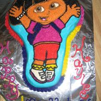 Another Dora Cake marble cake with buttercream frosting.