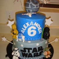 Star Wars   Fondant accents; Death Star is styrofoam ball. Thanks for looking!