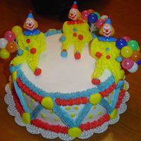 Clown Cake This is my final cake for Wilton 1