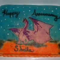 Dragon Anniversay Cake I was asked to make an Anniversary cake with a dragon on it. strange request. This is what I came up with