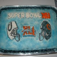 Superbowl Xli Colt fan asked me to make a superbowl cake for his party and this is what I came up with.