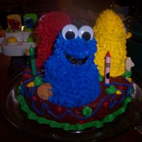 Elmo, Cookie Monster, Big Bird Sesame Street Cake