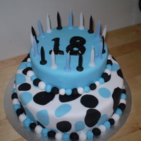 18Th Cake made this one for my daughters 18th...not happy with the 18, used a wilton gel tube
