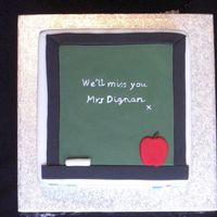 Teacher's Leaving Cake