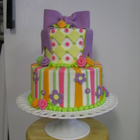 Birthday Cake frosting and fondant decorations