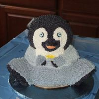 "Mumbles From Happy Feet This was the ""smash cake"" for a 1 year old's birthday. I had so much trouble with the cake itself...when I removed him from..."