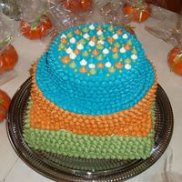 Dots Galore! So, this is the cake design that wouldn't quit...Square and round cakes, and the colors are that of the invitation of the shower. I...