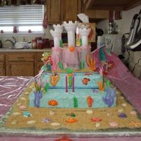 Little Mermaid's Castle I did this cake for my niece's 2nd birthday. She loves Ariel, so I created her castle under the sea. The castle was made using the...