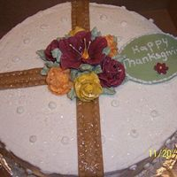 Thanksgiving Cake I made this based on a previous cake I made only using fall colors.