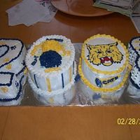 2008 Grad Cake-Practice Practice cake for a graduation order I have for June. I made it for another cheerleading banquet. It was a ton of work, but the mom loved...