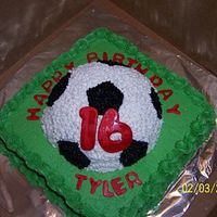 Tylers_Bday.jpg Cake for my daughters boyfriend. Only used half of the ball pan-much easier