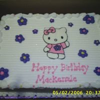 Hello Kitty Frozen Buttercream transfer