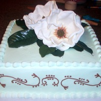 Magnolia Magnolia cake for a friend who moved from the state of Mississippi!