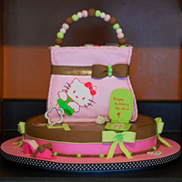 Hello Kitty B-Day Cake Made this cake for my neice's birthday party. Had so much fun sharing with her the darling 4 year-old also helped with some of the...