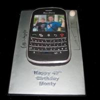 Blackberry Birthday Cake Had to come up with a design for a blackberry (texting fanatic), math professor, and golf enthusiast. The blackberry is carved, used...