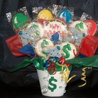 Retirement Bouquet   retirement bouquet for someone who works at a bank