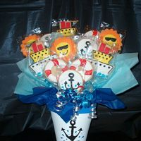 Cruiseship Bouquet found the design for the cruiseship somewhere on here and I can't remember who it was. Thank you. I made this for a travel agent. The...