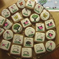 Farm Animal Cookies Antonia74 Royal Icing. Edible marker. Pics to resemble party invitation for my daughter's 4th birthday.