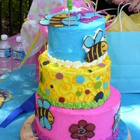 Whimsical Bee Birthday   I did this for my little girl's 1st birthday. I got the inspiration from the Whimsical Bakehouse Bakery Book.