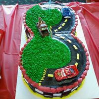 Amys_Car_Cake_1.jpg Chocolate almond cake and white almond cake with bc frosting. Got the idea from a cake AngD did Thanks for the insperation!