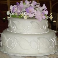Fondant Wedding Cake-Side View   this is a side view of the cake i posted earlier. thanks for looking :-)
