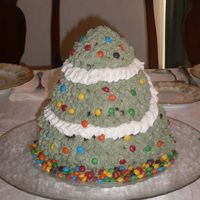 3D Christmas Tree This is an example of why I always make a practice cake first. When decorating this cake, I learned that buttercream icing will melt and...