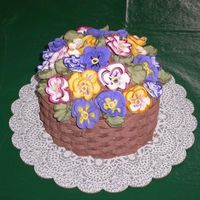 Pansy Basket Cake I made this cake for my mother-in-law's birthday. It's based on the Pansy Basket cake on the cover of the 1997 Wilton yearbook,...