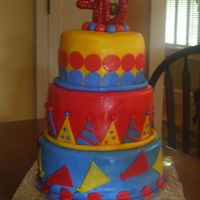 40Th Birthday Cake For a friend's party... they had a primary color theme. Fun and easy to make!