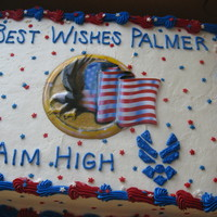 Aim High Made for an air forceman who got a promotion and was being relocated. had a party to celebrate. the eagle and flag in the middle of the...