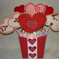 Valentine Bouquet With Puppy This is my vday bouquet with the puppy cookie. NFSC with RI, MMF and RBC. Thanks for looking!