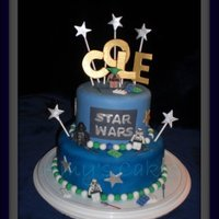 Star Wars Birthday This is my version of a similar Star Wars cake my SIL found online. She helped me with this. It was for her little boy turning four. The...