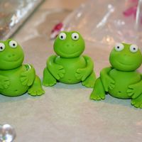 My First Ever Fondant Frog These little guys are an inspiration from all the frogs here on Cake Central. These are going on a baby shower cake. I still have to dust...