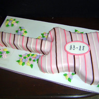 Guitar Baby Shower All MMF. This cake ended up being 30 inches long. Baby was named Dylan thus a guitar (Bob Dylan).