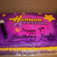 Hannah Montana white cake, buttercream icing, fondant microphone