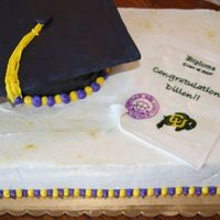 Graduation Cake This is my first attempt at a graduation cake, which ended up being the hardest cake I had done up to that point!! I did my own edible...