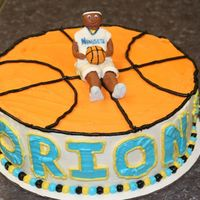 Denver Nuggets This was for a friend's son. He was turning two, and loves basketball and the Denver Nuggets. He carried the fondant Carmelo Anthony...