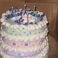 Polka Dot Pastel Layer Cake