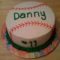 Danny's Baseball This was for a boy turning 11 who loves baseball. WASC w/ buttercream.