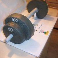 Barbell Cake--Side View