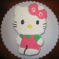 Hello Kitty A practice Hello kitty. I cut her out and made her colors to match the invitation. I wanted to try the dream whip frosting (delicious) and...