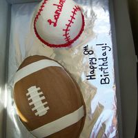 Football Base Ball Birthday I made this for a friends son who turned 8.